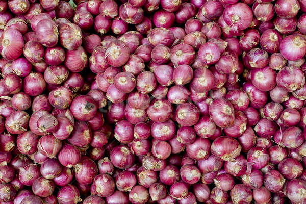 Stock photo: A lot of Thai shallot separated for background