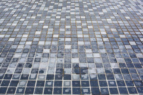 Background of little irregular blue tiles. Stock photo © art9858