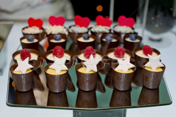 mini tarts by chocolate and stuff with topping Stock photo © art9858