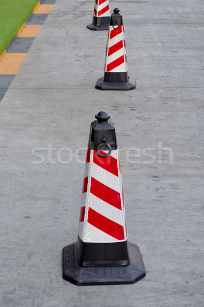 Forgalom kúp piros fehér színek út Stock fotó © art9858