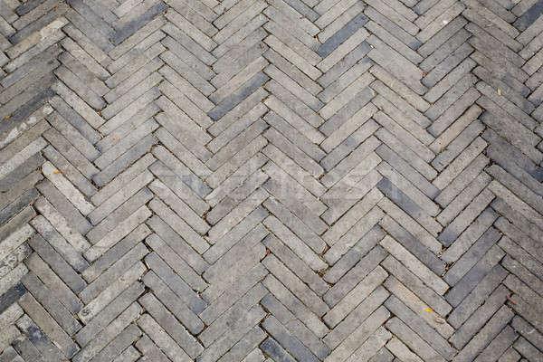 oblique brick walk way in park Stock photo © art9858
