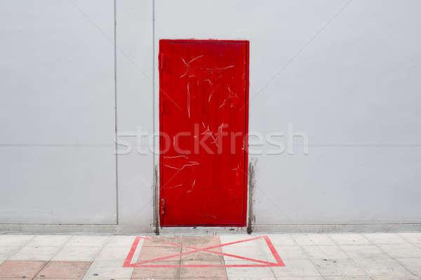 Notfall verlassen exit sign Feuer home Hintergrund Stock foto © art9858