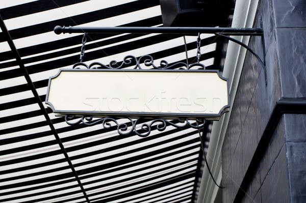 hanging board - white blank Stock photo © art9858