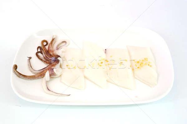 Greggio calamari fetta bianco piatto Foto d'archivio © art9858