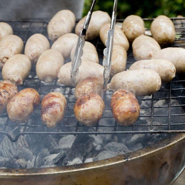 pork sausages street food in Thailand Stock photo © art9858