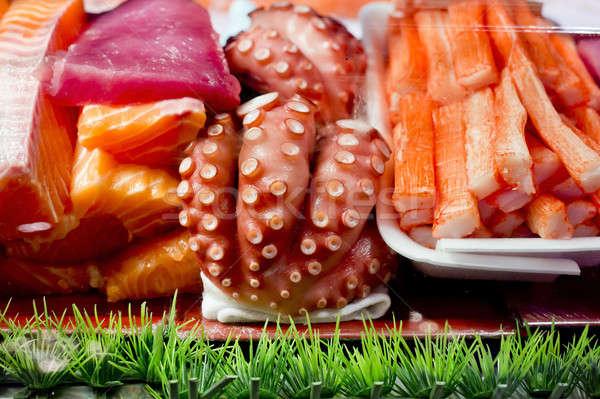 Hozzávalók szusi hal kövér ázsiai japán Stock fotó © art9858