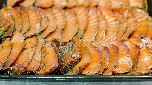 Sashimi Japon sushi balık ışık restoran Stok fotoğraf © art9858