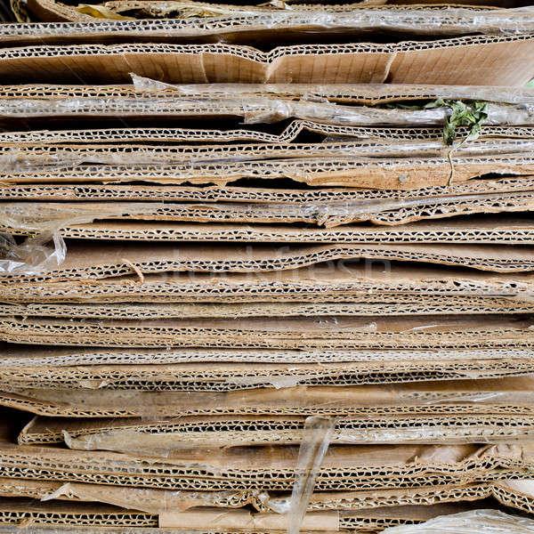 Boglya crepe papír doboz tábla konténer Stock fotó © art9858
