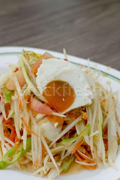 Noto thai food insalata uovo cosa Foto d'archivio © art9858