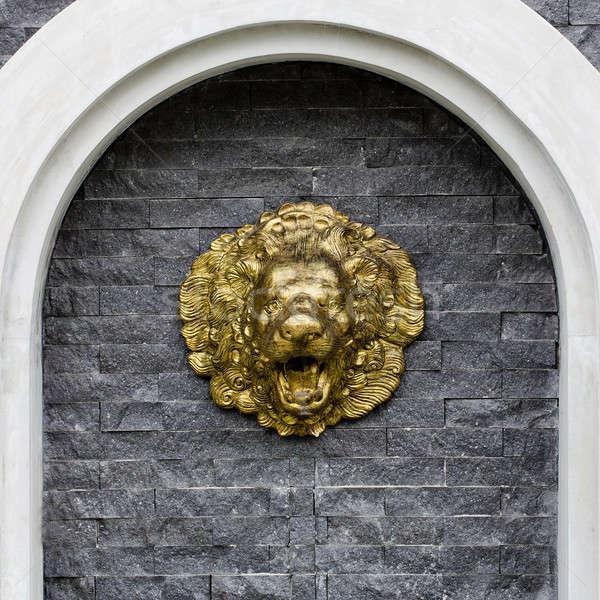 Lion fountain Stock photo © art9858