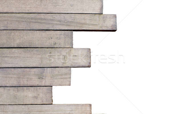 differentsize of wooden laths wooden laths close-up, may be used Stock photo © art9858