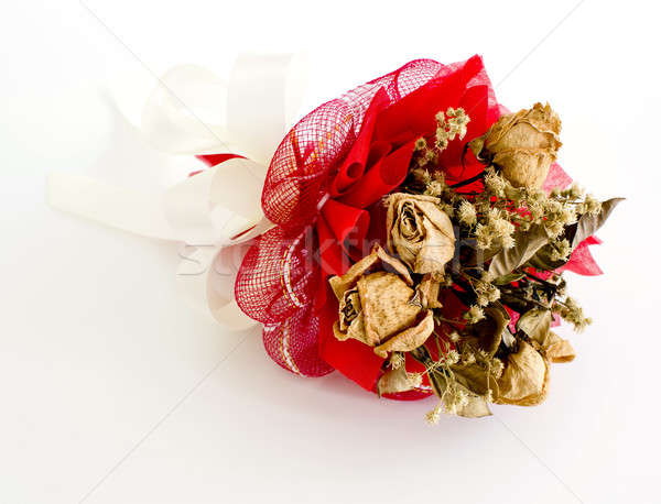 Stock photo: isolated dried rose on white background