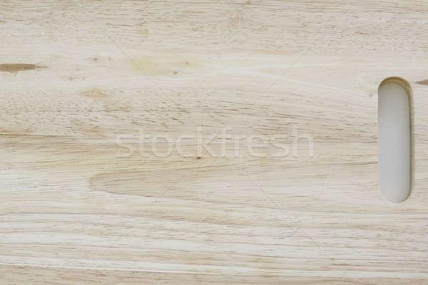 Fából készült vágódeszka izolált fehér textúra fa Stock fotó © art9858