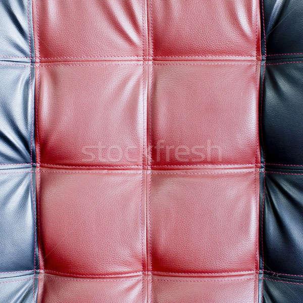 Leder textuur abstract Rood patroon glamour Stockfoto © art9858