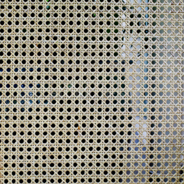 Weave pattern rattan background.Woven rattan with natural patter Stock photo © art9858