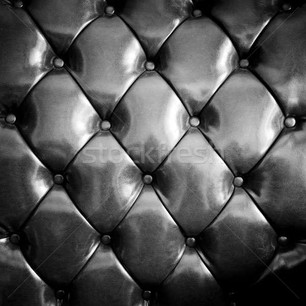 Close up black luxury buttoned leather Stock photo © art9858