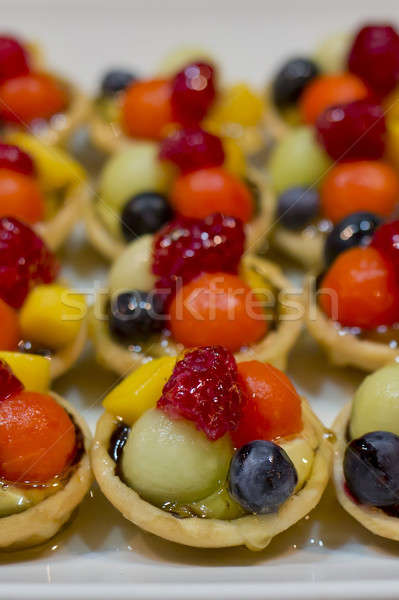 finger food, dessert and fruits cocktail Stock photo © art9858