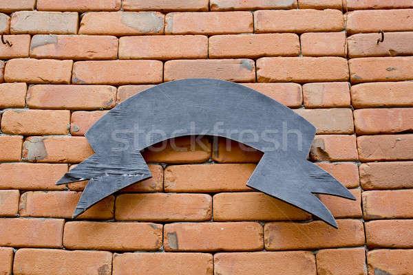 Imzalamak tuğla duvar şehir inşaat duvar seyahat Stok fotoğraf © art9858