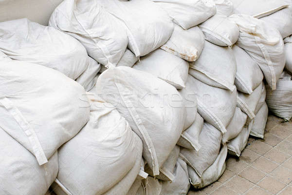sandbags for flood defense or military use Stock photo © art9858