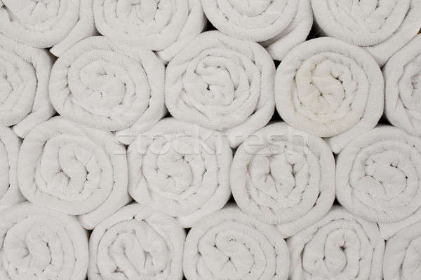 Zwembad handdoeken textuur achtergrond weefsel schone Stockfoto © art9858