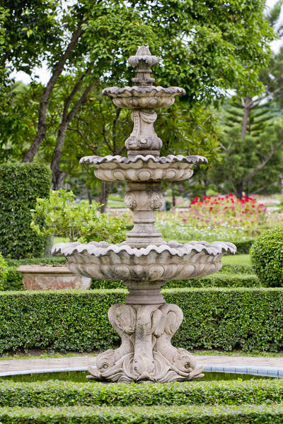 A large fountain outside with Thai style Sculpture Stock photo © art9858