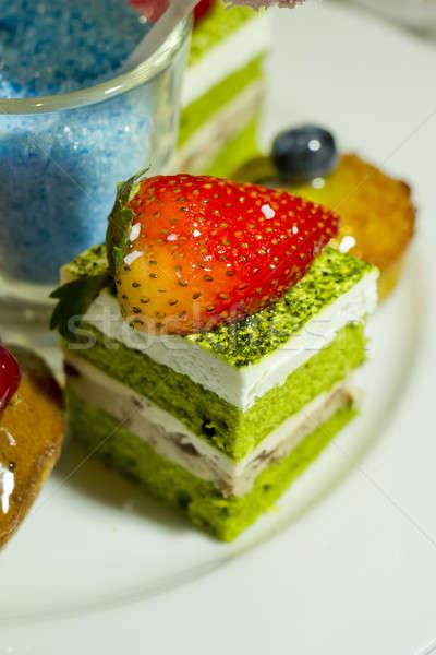 Stok fotoğraf: Toplama · farklı · lezzetli · tatlılar · kekler · beyaz