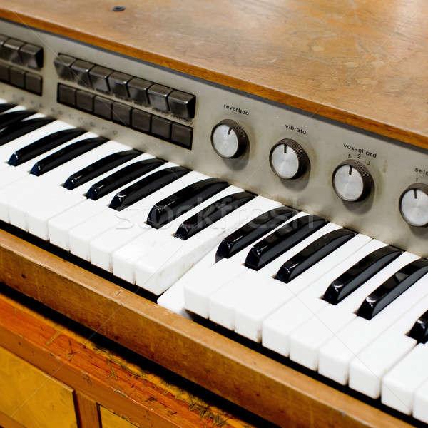Edad vintage piano música negro roto Foto stock © art9858