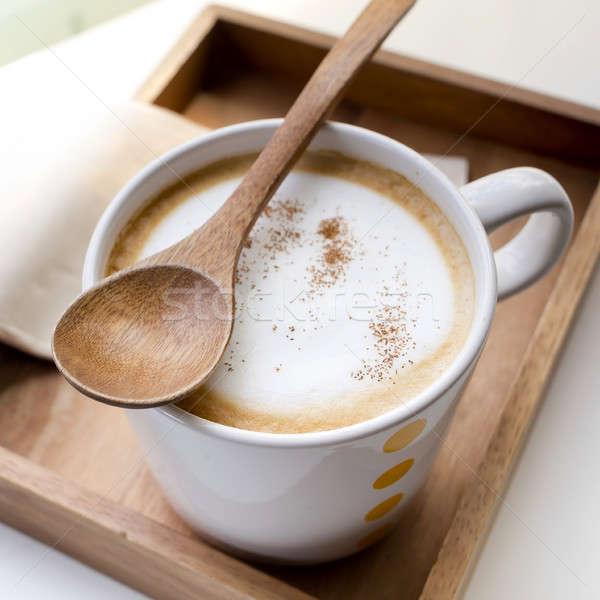 Foto stock: Copo · café · comida · projeto · chocolate