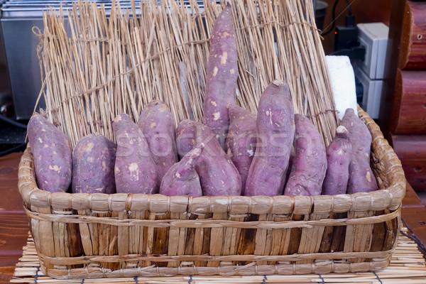 Zoete aardappel hout klaar lunch Stockfoto © art9858