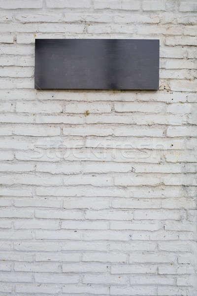 Lege zwarte teken marmer boord witte Stockfoto © art9858