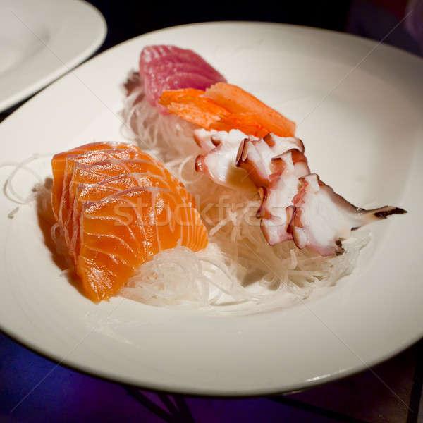 Stockfoto: Japan · restaurant · sushi · vis · groene · diner