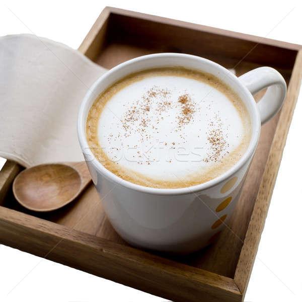 Cappuccino or latte coffee Stock photo © art9858