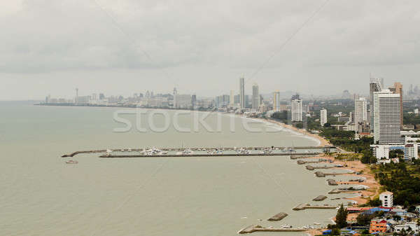 Paisaje playa Tailandia cielo agua azul Foto stock © art9858