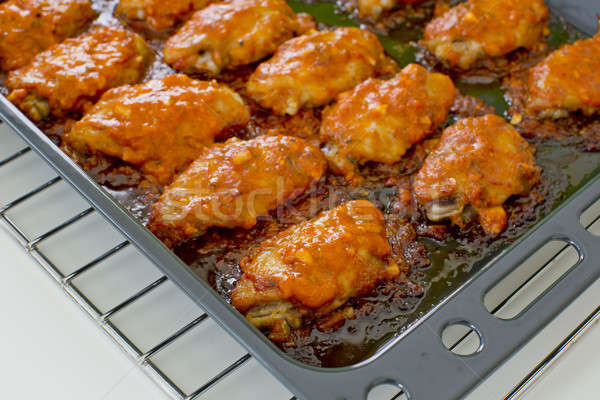 Fried Chicken New Orleans.sweet and spicy on tray ready to serve Stock photo © art9858