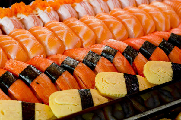 Sushis texture alimentaire poissons mer dîner Photo stock © art9858