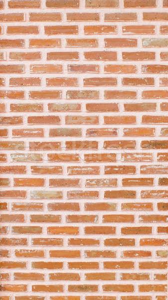 Stok fotoğraf: Eski · kırmızı · tuğla · duvar · arka · turuncu · kentsel