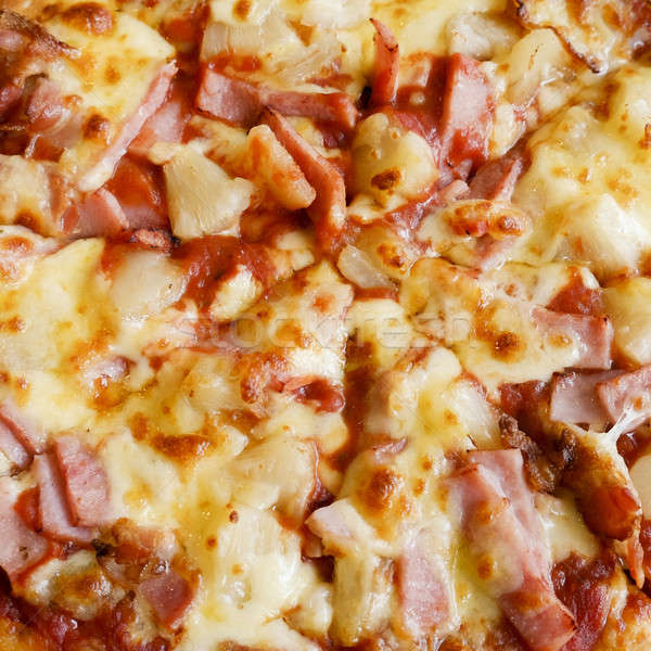 delicious hawaiian rustic style pizza made with fresh pineapples Stock photo © art9858