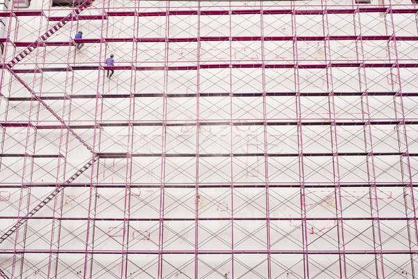 Construction site and building structure background Stock photo © art9858