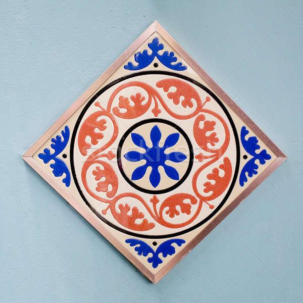 Keramische tegels patronen kleurrijk stijl huis Stockfoto © art9858