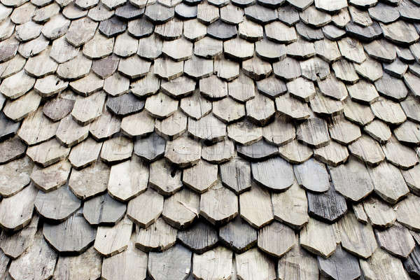 Diagonal detail of brown wood roof Stock photo © art9858