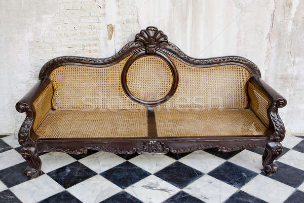 vintage style of interior decoration the leather sofa Stock photo © art9858