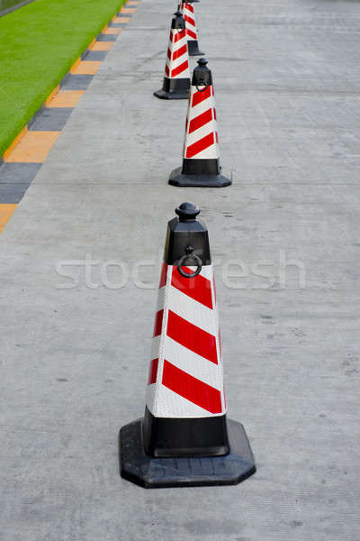 traffic cone red and white colors Stock photo © art9858