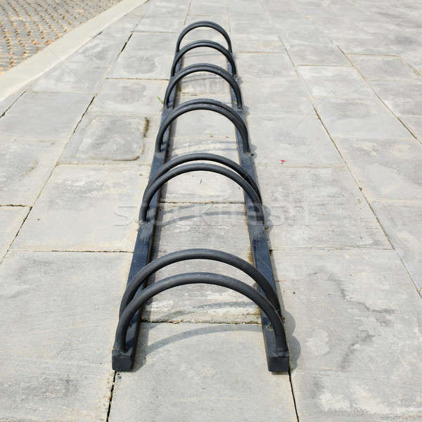 Abstract of bicycle parking Stock photo © art9858