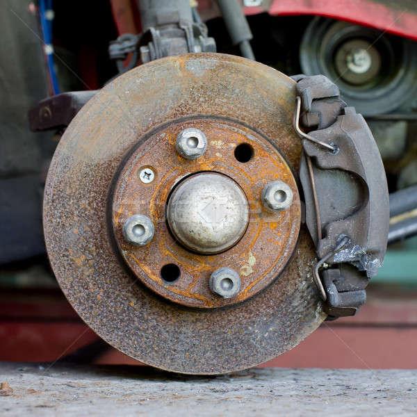 Closeup photo of car disc brakes servicing Stock photo © art9858