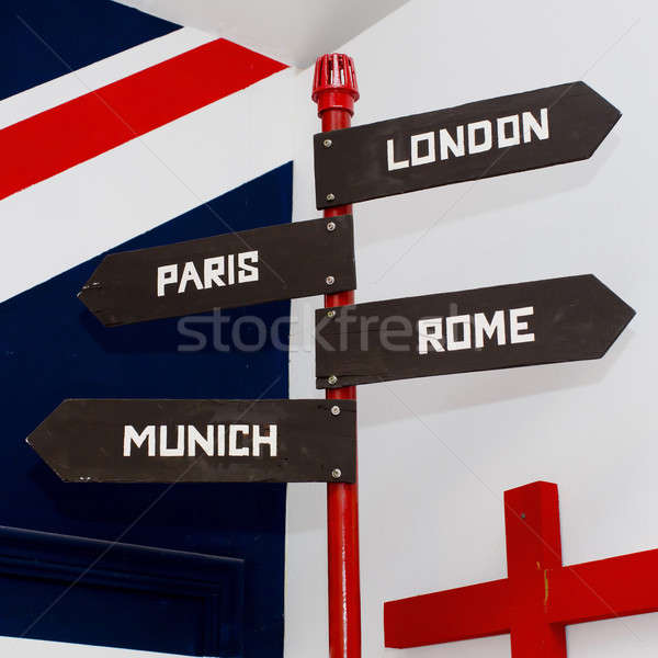 Signage board - direction sign Stock photo © art9858