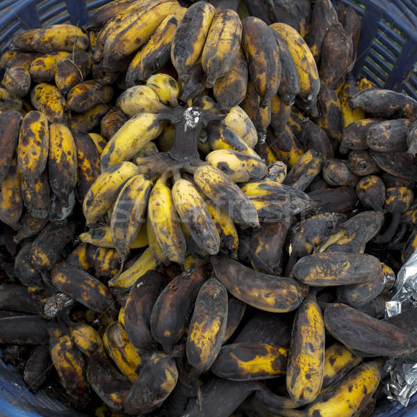Rot banaan tabel zwarte huid ontbijt Stockfoto © art9858