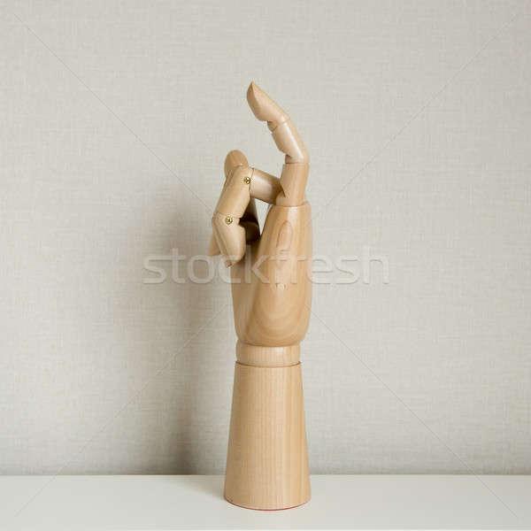 Little finger in white background Stock photo © art9858