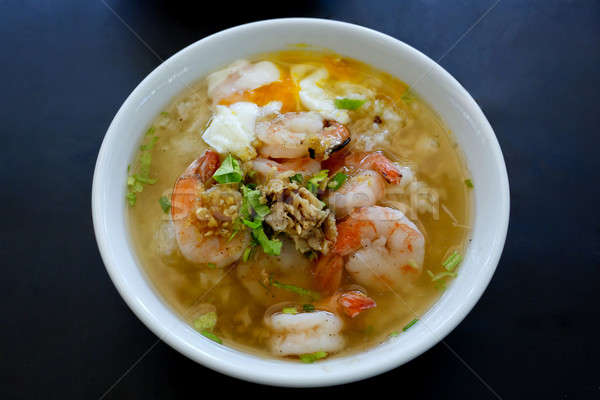 Thai Rice Soup With Shrimp (Khao Tom Goong) Stock photo © art9858