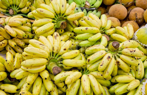 Bunch of cultivated banana background Stock photo © art9858