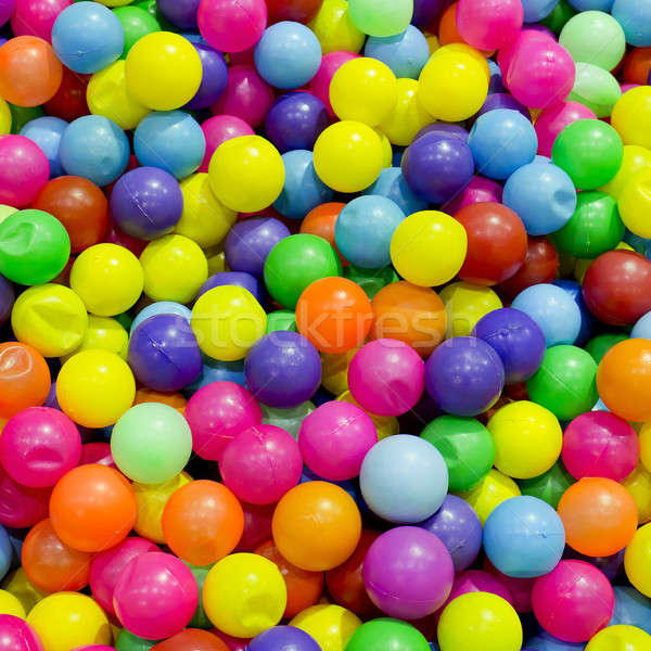 3d balls in rainbow color - colorful plastic ball Stock photo © art9858